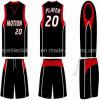 Uniformi atletiche nere rapidamente asciutte di pallacanestro (ELTLJJ-87)