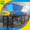 Caucho plástico sólido/acero/neumático inútil/eje biaxial/máquina de madera industrial de la desfibradora