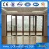Алюминиевая стеклянная входная дверь сползая дверь складчатости