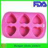 Molde do bolo do silicone da forma do coração (SY-CM-001)