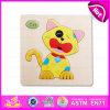 2015 DIY educacionais Toy Wooden 3D Puzzle Game Toy, Cat Puzzle Game Toy de Highquality 3D, Hot Sale 3D Wooden Puzzle Set W14c086