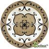 ホテルのプロジェクトの物質的で自然な大理石のWaterjet丸型の円形浮彫り