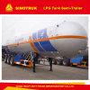 Remorque de camions-citernes aspirateurs de l'Afrique LPG/semi-remorque employées couramment de réservoir