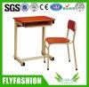 Mesa do estudo da escola preliminar e cadeira Sf07s de madeira