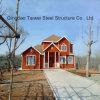 Casa clara da casa de campo do frame de aço com preço do competidor