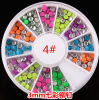 최신 Candy Colours Metallic Stud Nail Art Decoration Stickers Rivet 3mm Round