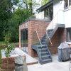 Escalera de acero del larguero doble/escalera recta al aire libre