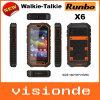 Runbo 뜨거운 새로운 X6 IP 67 방수 방진 이중 SIM는 워키토키 인조 인간 OS 4.2 Smartphone 쿼드 중핵 32g ROM 2g 렘을 카드에 적는다
