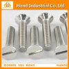 Tornillo principal avellanado unidireccional del acero inoxidable del surco DIN963