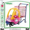 Le supermarché badine le chariot de chariot à achats avec la portée de bébé