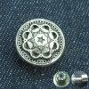 Tasto su ordinazione di difficoltà del metallo di marca dei jeans operati di disegno