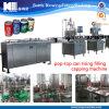 자동적인 양철 깡통 물/주스는/음료 채우는 밀봉 기계를 탄화시켰다