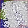 Tela geométrica do laço do bordado da guipura