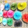 Ventilador colorido del papel de tejido para dar la decoración