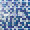 20X20mm blaue Mischungs-heiße Schmelzblaue Farben-Glasmosaik-Fliese (BGE014)