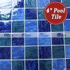 Bluwhale 4 Tegel van het Porselein van het Zwembad van '' x4 '' Wave-Like Blauwe (BCP002)