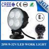 Lampe 20W 12V de lumière de travail de l'agriculture DEL imperméable à l'eau