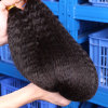Волосы Yaki прямые бразильские Remy оптового выдвижения человеческих волос Kinky