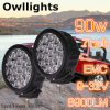 4X4 New Auto Part 4X4 Offroad Car 7  Round 90W LED Driving Light