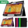 Soporte de la cubierta del cuero de las cajas de las tabletas para la nota 10.1 P600 de la galaxia de Samsung