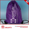 ギフトのためのプリントが付いている防水210dポリエステル方法ドローストリング袋