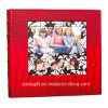Crocodile vermelho Leather 4X6 Slip em 600 Photo Albums Wedding Albums com Windows