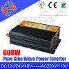 600W 12V DC 24V AC 110V 220V de onda sinusoidal pura con el cargador