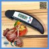 Het digitale Vlees die van het Voedsel Draagbare Thermometer voor de Kokende BBQ van de Keuken Zwarte van de Thermometer vouwen