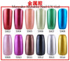 Hs Code 3304300000 Mercahv Factory OEM Available High Quality 12 Colors Metallic Soak off UV Gel Nail Polish