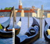 Pittura a olio Handmade di Abstract Sea Boat per Wall Decor (LH-397000)