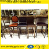 Restaurante do metal que janta a cadeira dos tamboretes de barra da mobília