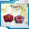 Form kundenspezifischer netter Blume-Form Samt-Ring-hängender Schmucksache-Kasten für Geschenk