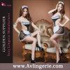 Princesse sexy Costume (KUM0-013) de lingerie de lacet de bonne de sous-vêtements de Babydoll de femmes