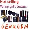 Los rectángulos de papel del vino según su pensamiento también pueden ODM, plegable, rectángulos de regalo del vino de Lid&Bottom