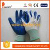 青いニトリルの手袋Dnn343が付いている白いナイロン