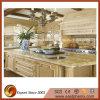 Bancada dourada/bege da boa qualidade do granito da cozinha