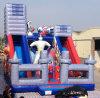 Cartoon Super Hero Commercial Inflatable Slideの子供Slides