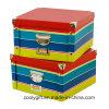 Caixas de papel do armazenamento Foldable clássico do roupa interior da listra