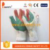 Связанные перчатки Dcl321 безопасности перчатки двойного цвета перчаток резиновый