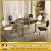 現代食堂の石造りの上のステンレス鋼のチェアーテーブルセット
