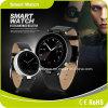 工場価格サポートIos及び人間の特徴をもつOSの円形のタッチ画面同期信号呼出しSMS Facebook電子メールSos Smartphone Smartwatch