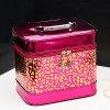 Venta al por mayor señoras cosméticos mujer maquillaje bolsas diseñador brillante casos (EB622)