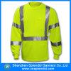 Long T-shirt de chemise de sûreté de vêtements de travail d'ouvrier en gros d'escompte