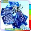Tag chave plástico impresso tamanho personalizado para o sistema da lealdade