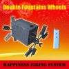 300m Wireless Remote Control + Double Fountain Wheels per Fountains Fireworks Show+ Fireworks Firing System