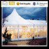 Tente adaptée aux besoins du client extérieure en verre d'armature d'alliage d'aluminium d'événement de noce de décoration de pelouse