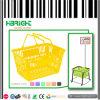 Panier à provisions en plastique de traitement de double de supermarché