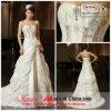 Vestido de casamento Strapless do cetim e do tafetá com flor de Handmand (CH218)