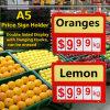 La fruta fresca salva el sostenedor plástico promocional del precio con los ganchos de leva plásticos