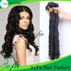 Remyの卸し売り加工されていないバージンのインドの毛の人間の毛髪の拡張